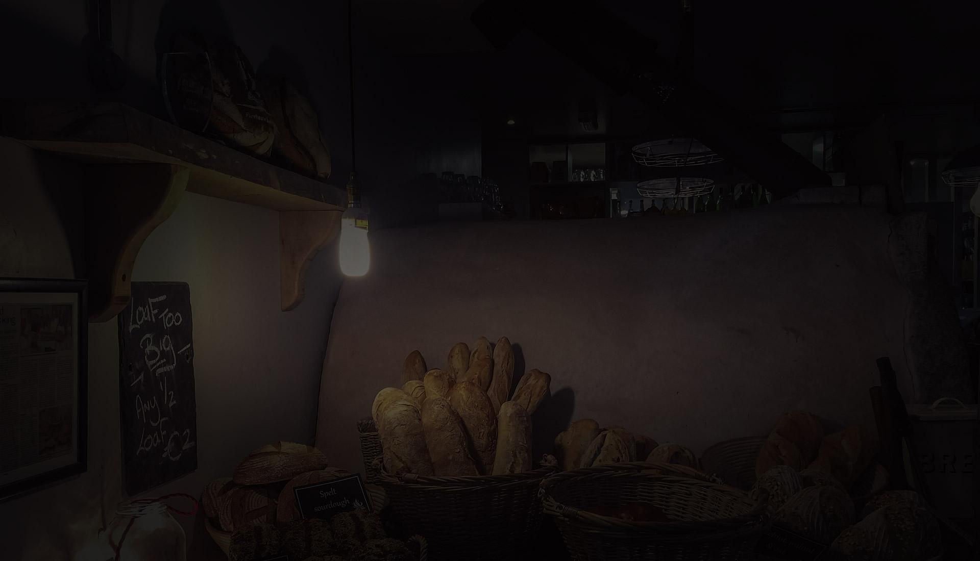 Místnost s pečivem